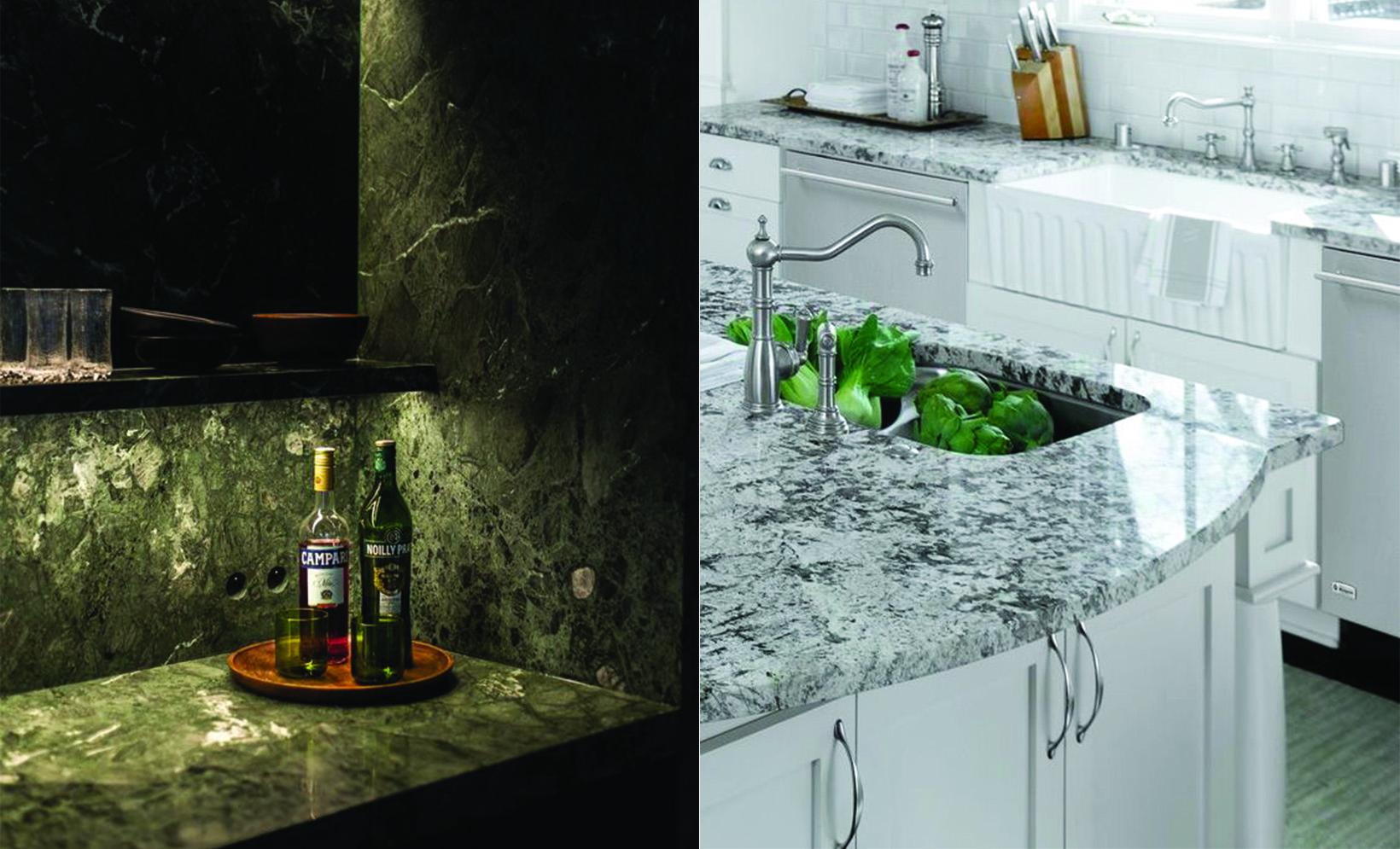 bàn bếp đá grannite - marble