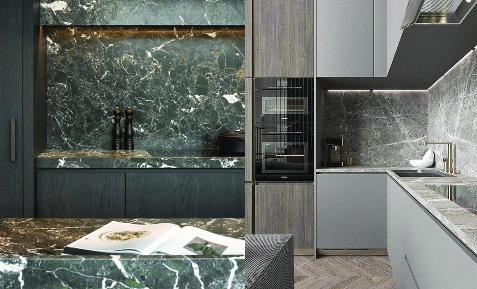 bàn bếp đá marble