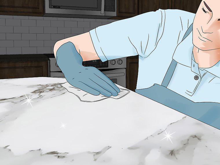 Làm thế nào để làm sach vết bẩn cho đá Carrara - đá cẩm thạch