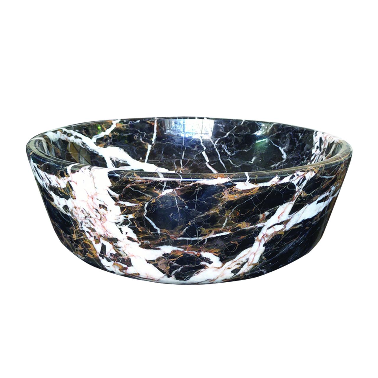 Lavabo đá tự nhiên tròn - LVB3