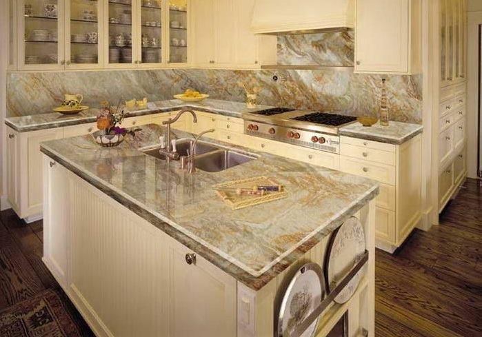 Sự khác biệt giữa các quầy bếp bằng đá granite và đá cẩm thạch